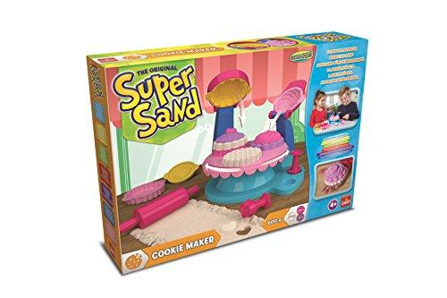Goliath 83289 - Super Sand Cookie Maker, bunte Kekse aus Spiel-Sand backen, vielseitige Backformen für kleine Meisterbäcker, tolle Leckereien zaubern, ab 4 Jahren