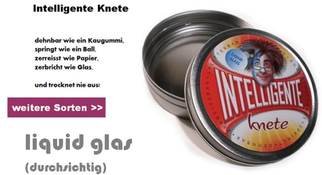 intelligente knete durchsichtig liquid glas